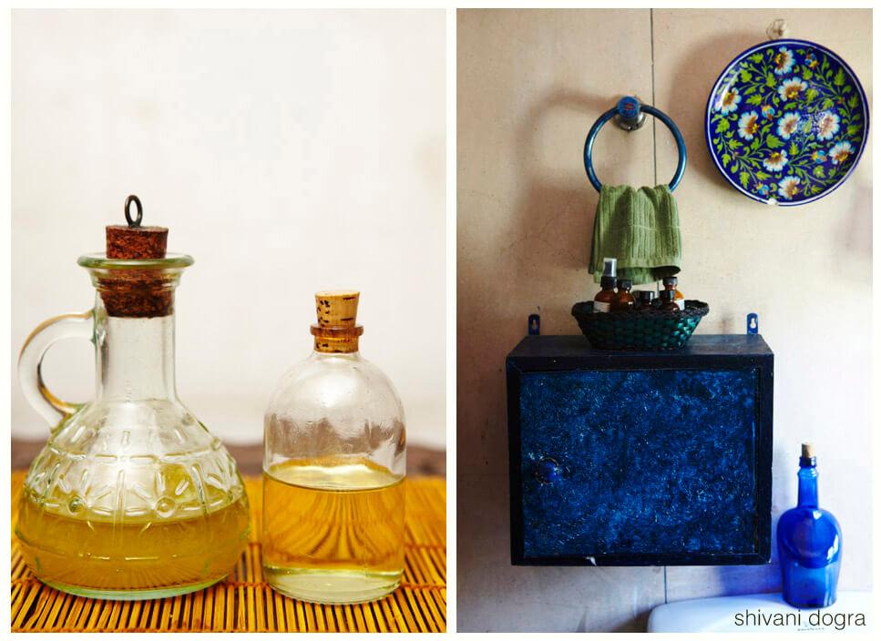 Bathroom, bottles, old bathroom